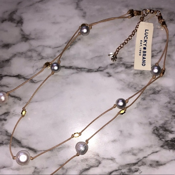 Lucky Brand layered pearl necklace